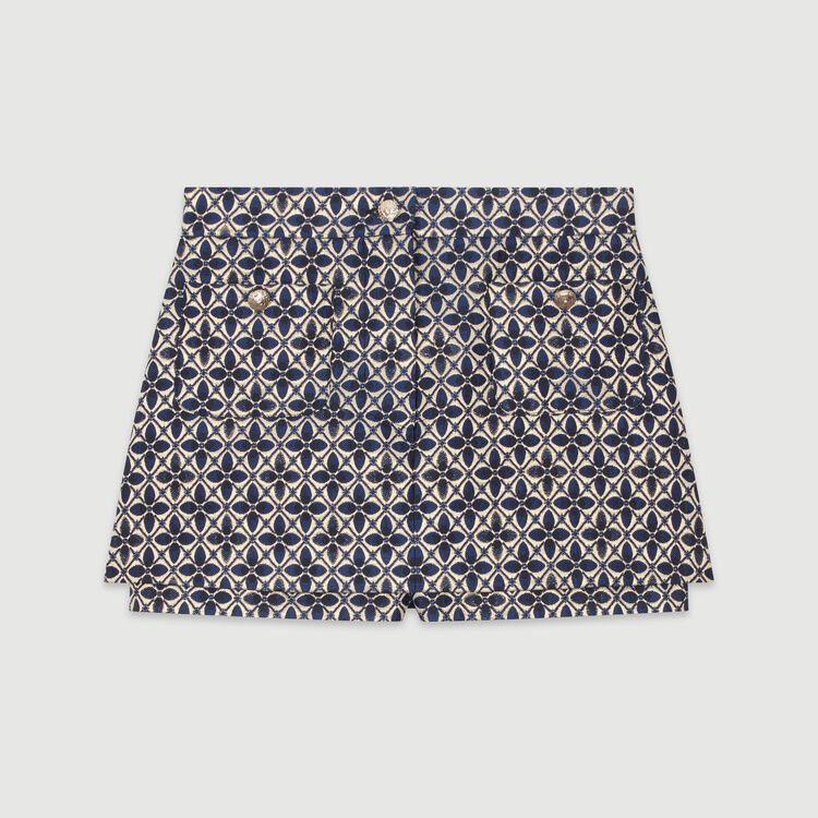Trompe-l'oeil jacquard shorts : New in : Summer Collection color Jacquard