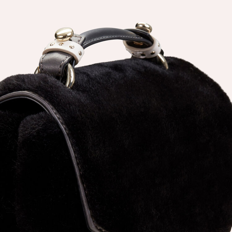 Faux-fur evening handbag : LDance bags color Black 210