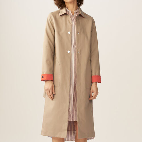 Reversible two-tone trench coat : Coats & Jackets color Beige