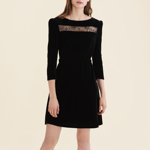 Velvet and lace dress - New in - MAJE