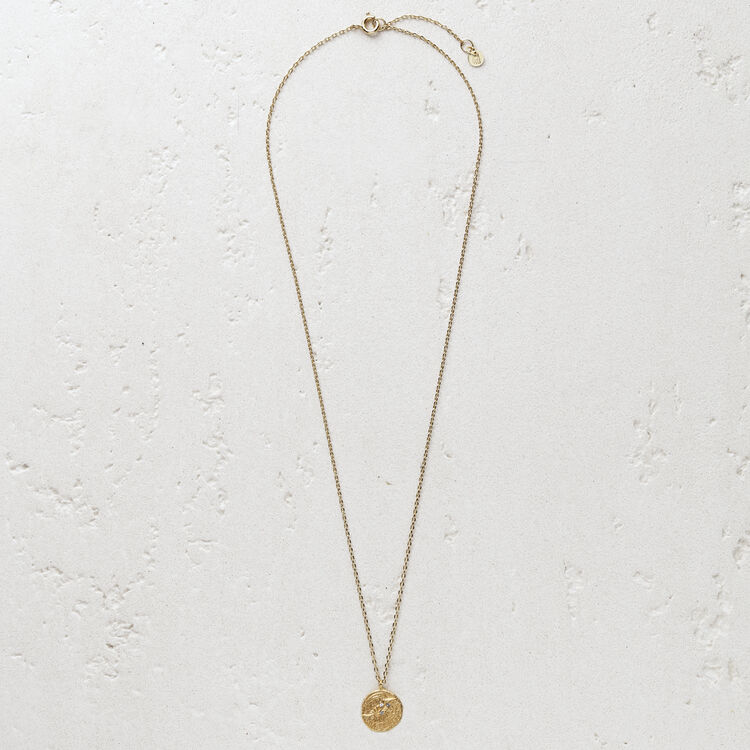 "Necklace ""Ma poule"" in gold plated : Jewelry color GOLD"