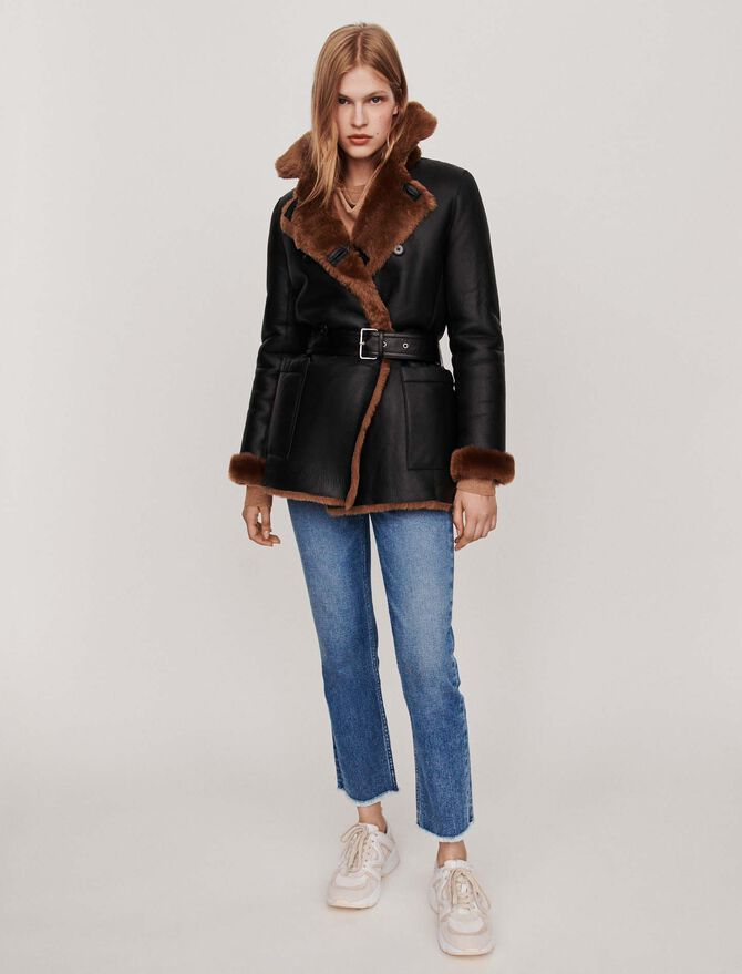 Canadian-style reversible shearling - All the collection - MAJE
