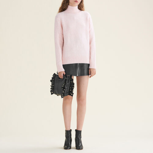 High neck jumper : Sweaters & Cardigans color Pale Pink