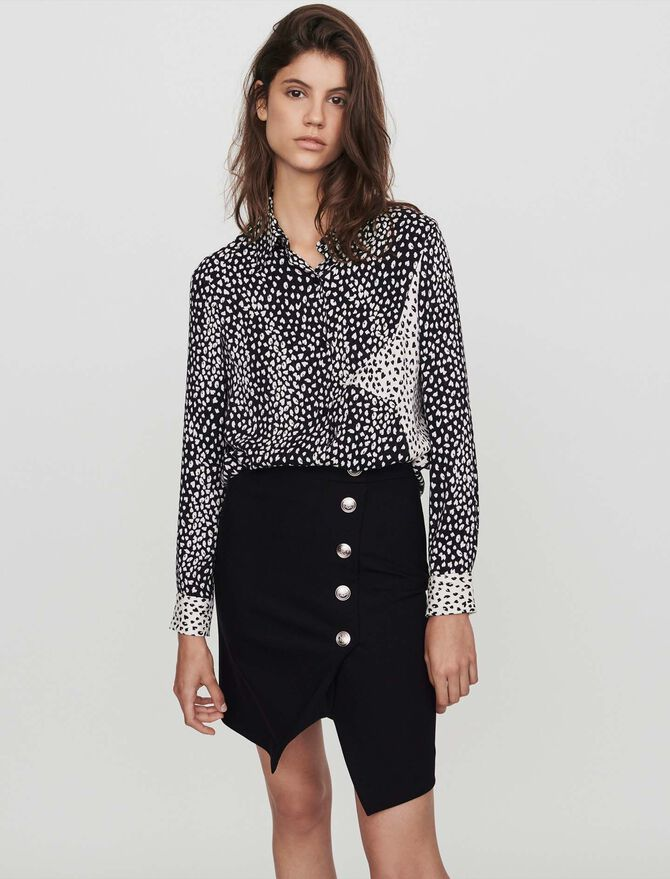 Patched jacquard-printed shirt - top - MAJE