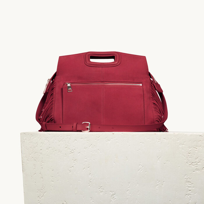 Suede M Walk bag - The M Walk - MAJE