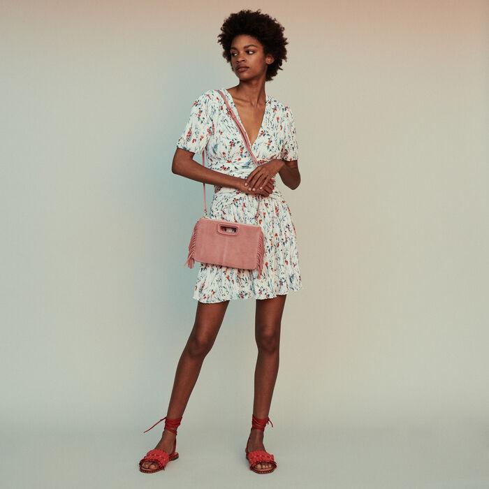 3a6f20be294 RASION Short printed dress with jewel - Dresses - Maje.com