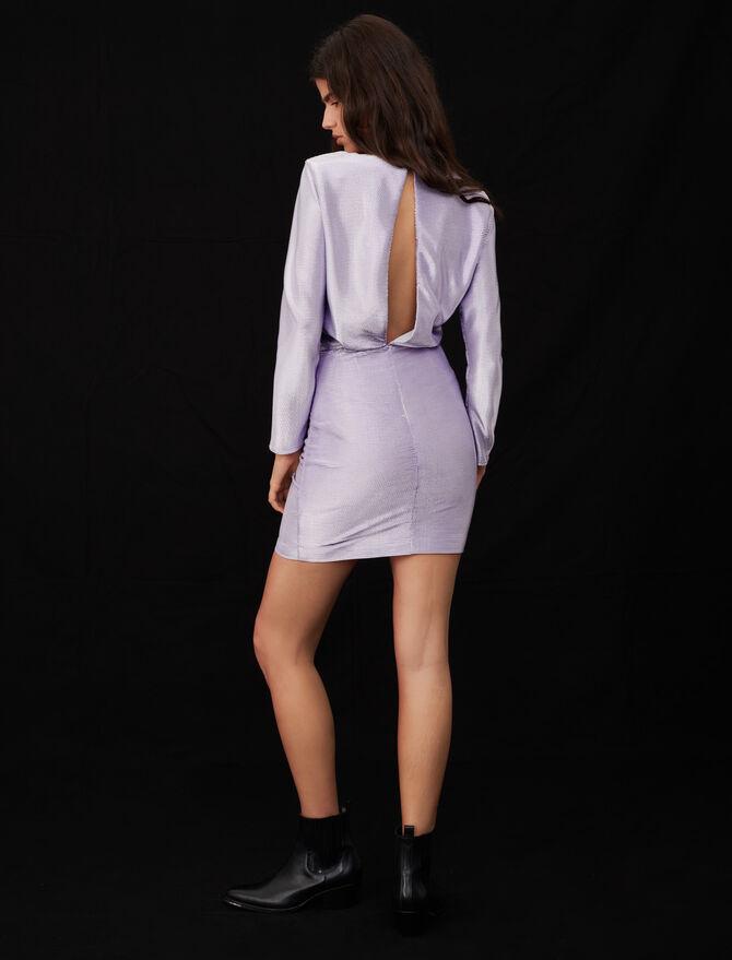 Low-back stretch lamé dress - Dresses - MAJE