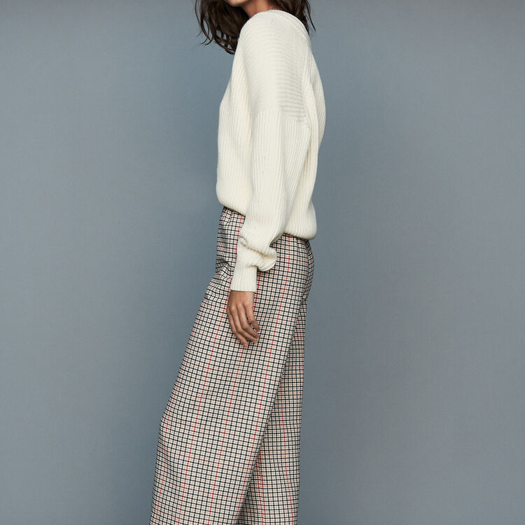 Plaid pants : Ready to wear color CARREAUX