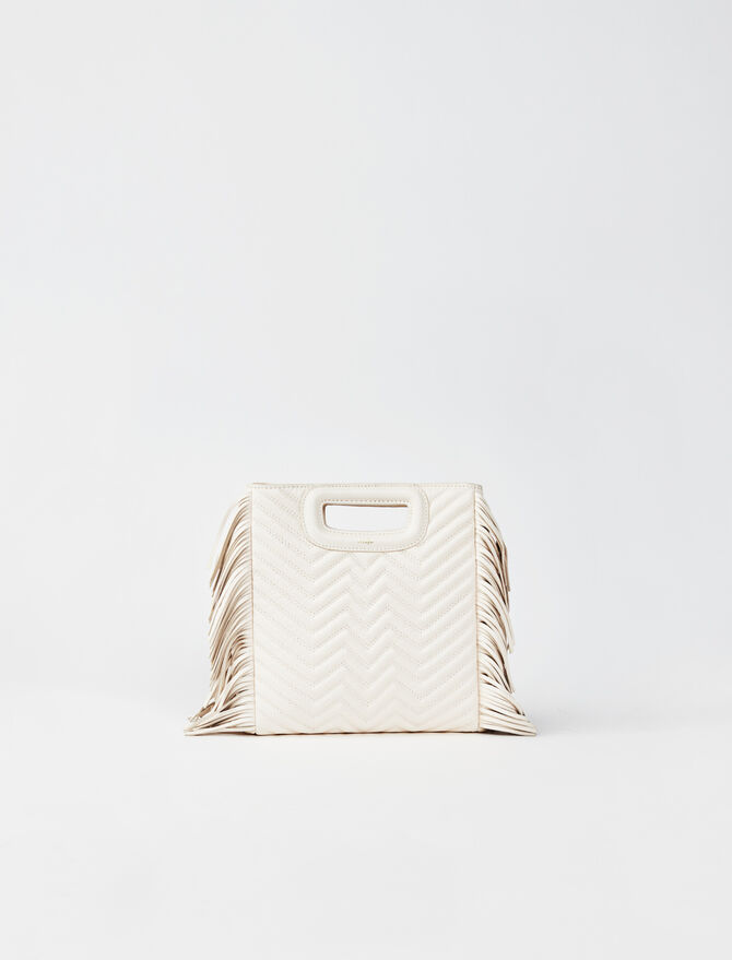 Quilted leather mini M bag -  - MAJE