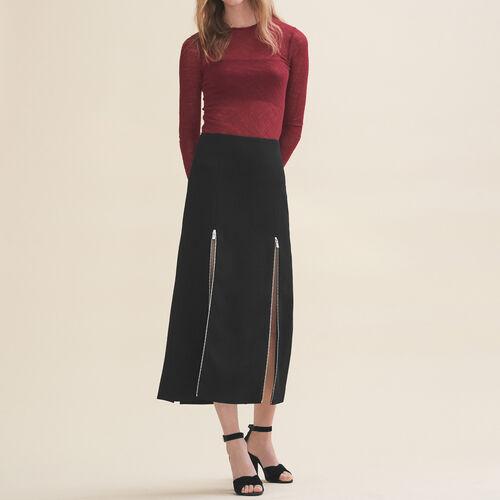 Long crêpe skirt - Skirts & Shorts - MAJE