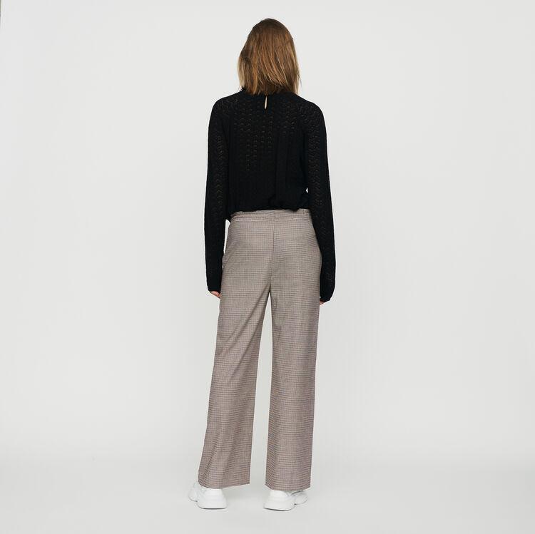 Elastic waist plaid pants : Trousers color CARREAUX