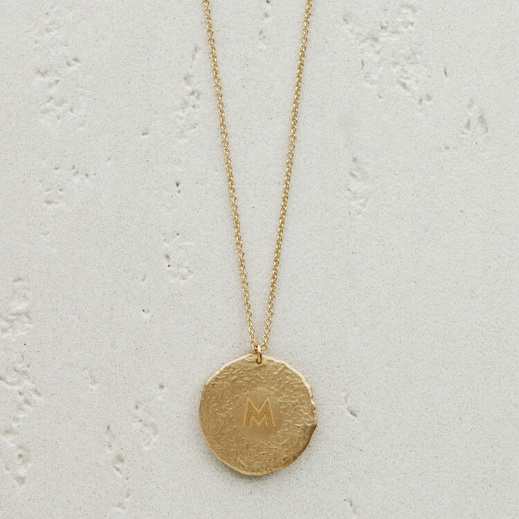 Pisces zodiac sign necklace : Medallions color GOLD
