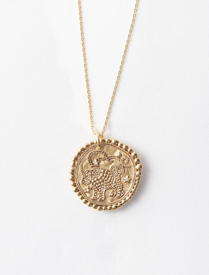 Taurus zodiac sign necklace -  - MAJE
