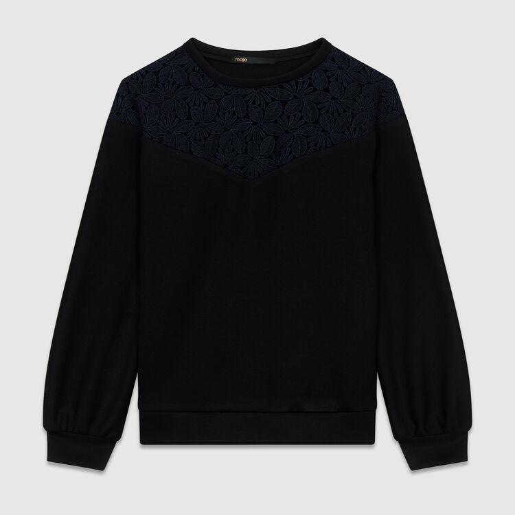 279de3e321 TEPINA Lace sweatshirt - Sweatshirts - Maje.com