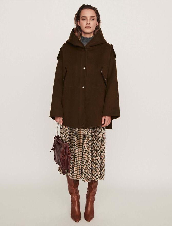 Double face cape coat - -30% - MAJE