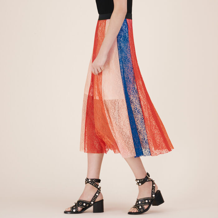 Long skirt with lace bands - 50% off and more - MAJE