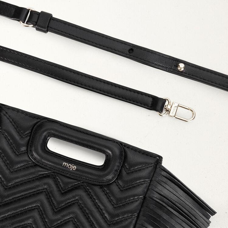 Mini quilted leather M bag : M Mini color Black