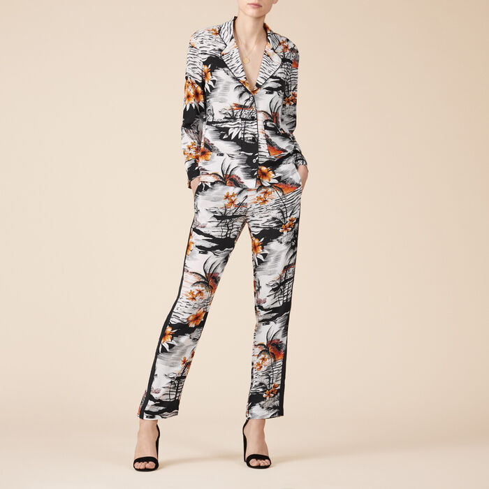 Floaty printed trousers - Tout Voir - MAJE