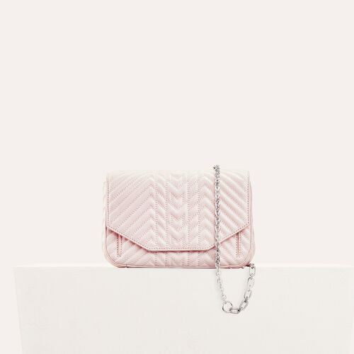 Quilted leather evening bag - Bags - MAJE