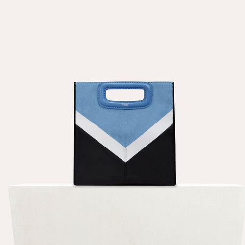 Leather and denim M bag : See all color Multico