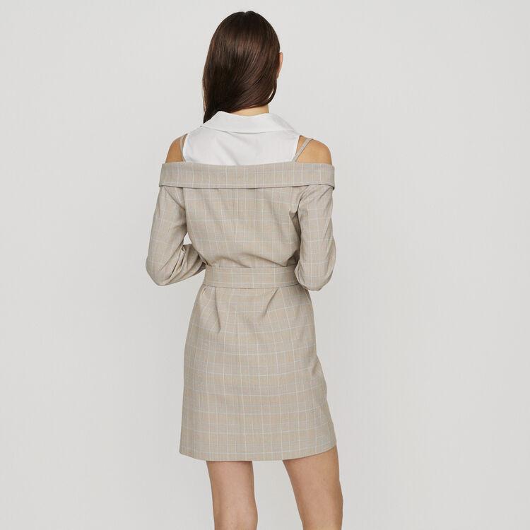 Dress with trompe-l'oeil effect : Dresses color CARREAUX