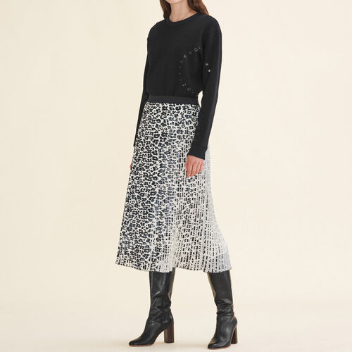 Leopard-print pleated skirt - Skirts & Shorts - MAJE