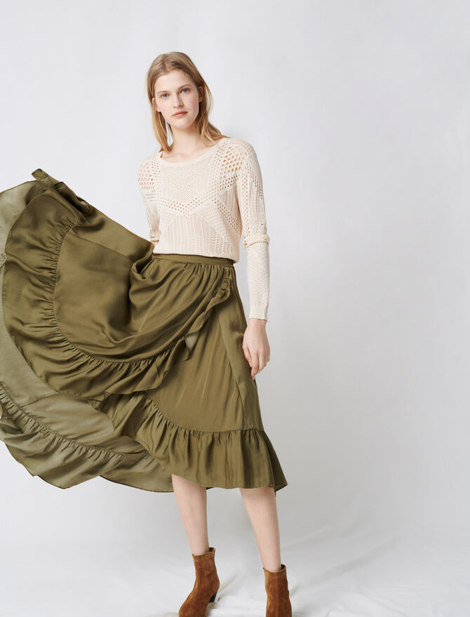 Ruffled boho skirt -  - MAJE