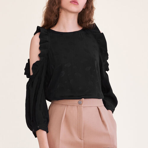 Flowing top open at the shoulders : Tops color Ecru