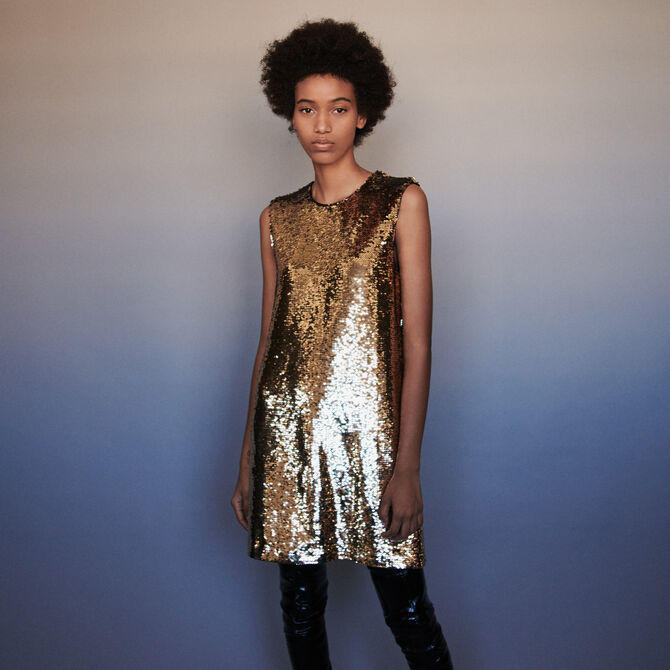 Sequin pencil dress - staff private sale 20 - MAJE