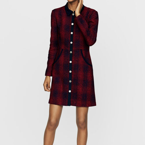 Tweed shirt dress : Ready to wear color CARREAUX