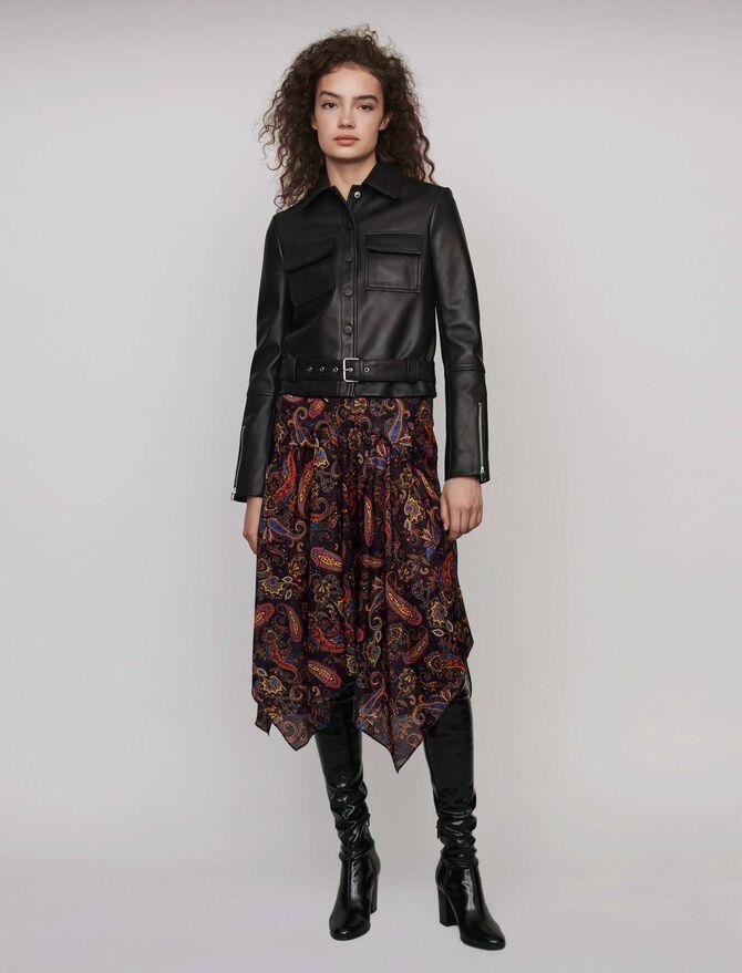 Buttoned leather jacket - Jackets & Blazers - MAJE