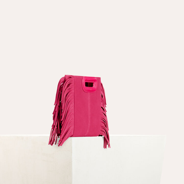 Fringed suede M minibag : Summer collection color Pink