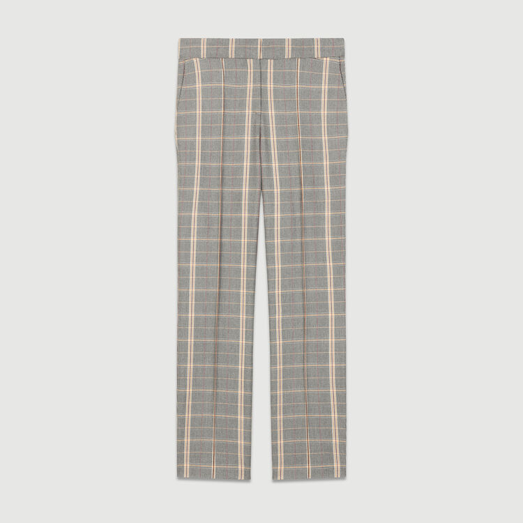 Checked straight-leg trousers : Trousers color CARREAUX