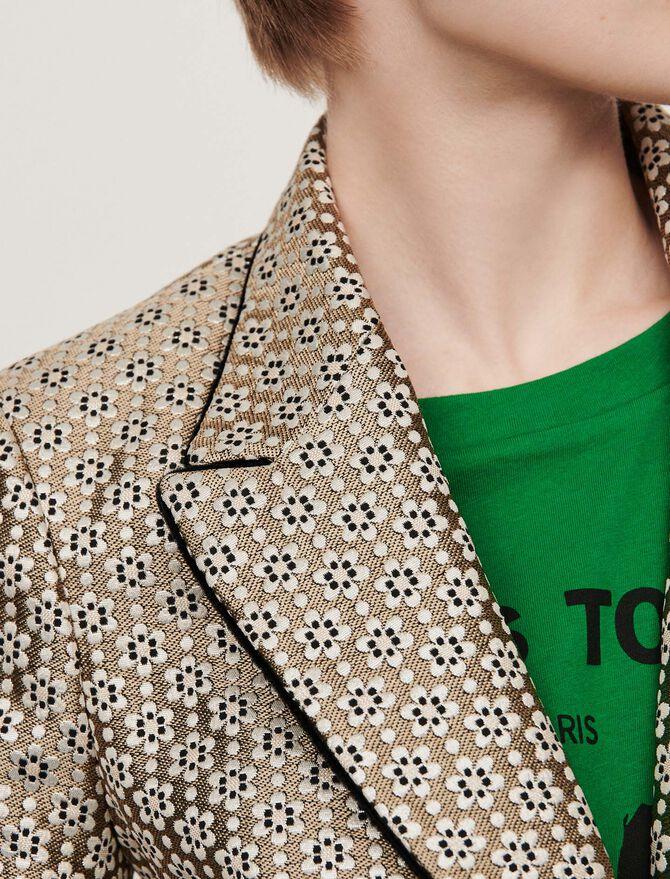 Lurex jacquard jacket - Blazers - MAJE