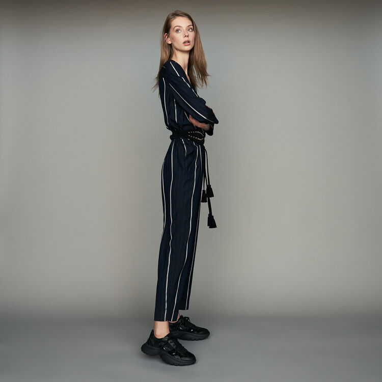 6ea0b6e16e1 PANTI Striped jumpsuit - Jumpsuits   Rompers - Maje.com