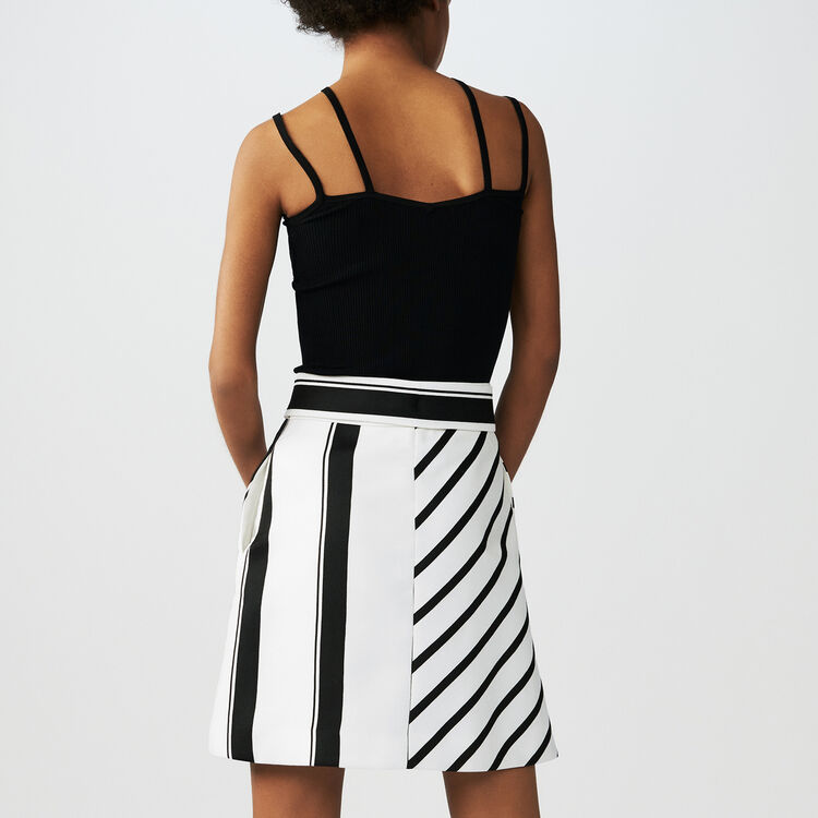 Striped trapeze skirt : Skirts & Shorts color Stripe