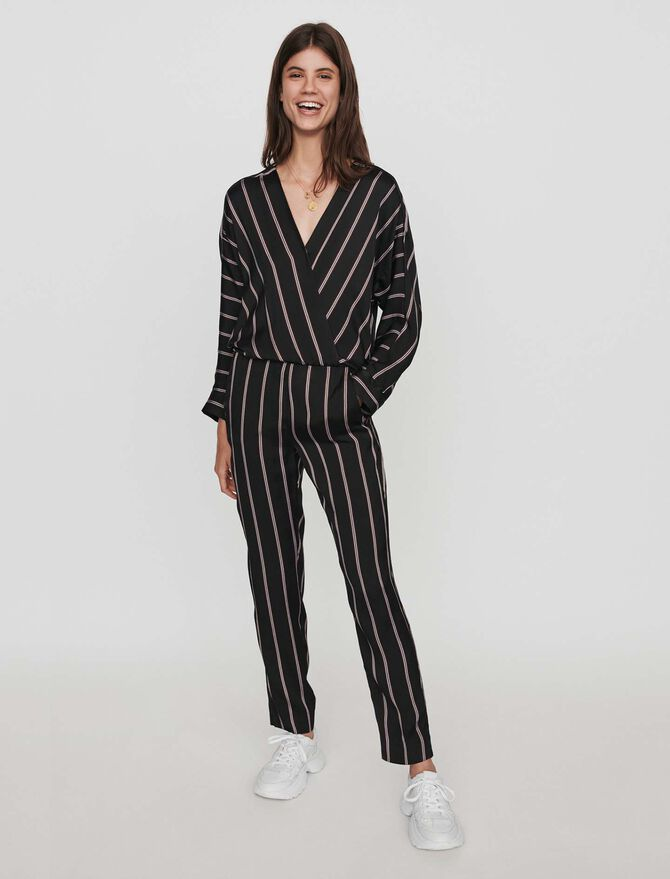 Jumpsuit with racing stripes - Trousers & Jean - MAJE
