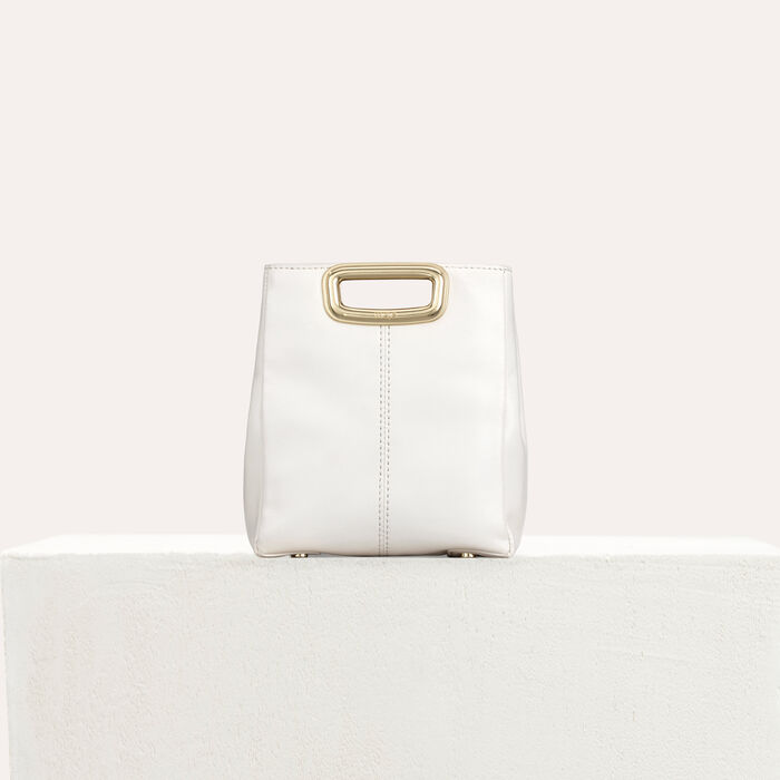 M Mini Skin bag in leather : M Mini color White