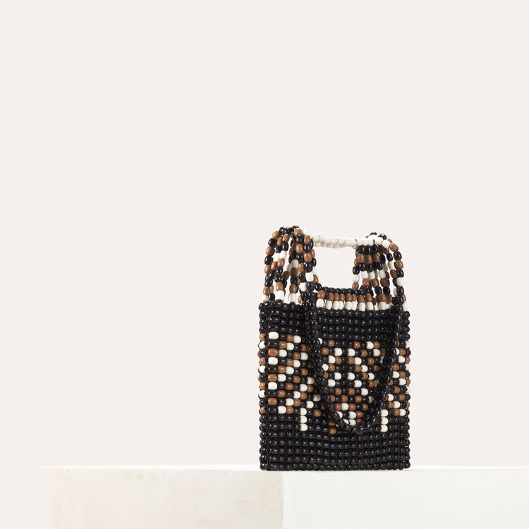 M bag in natural wood pearls : M bags color Multico