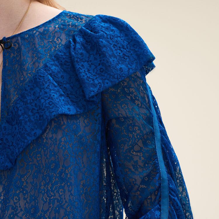 Lace top : Tops color Blue