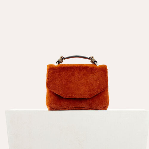 Faux fur evening bag : See all color Caramel