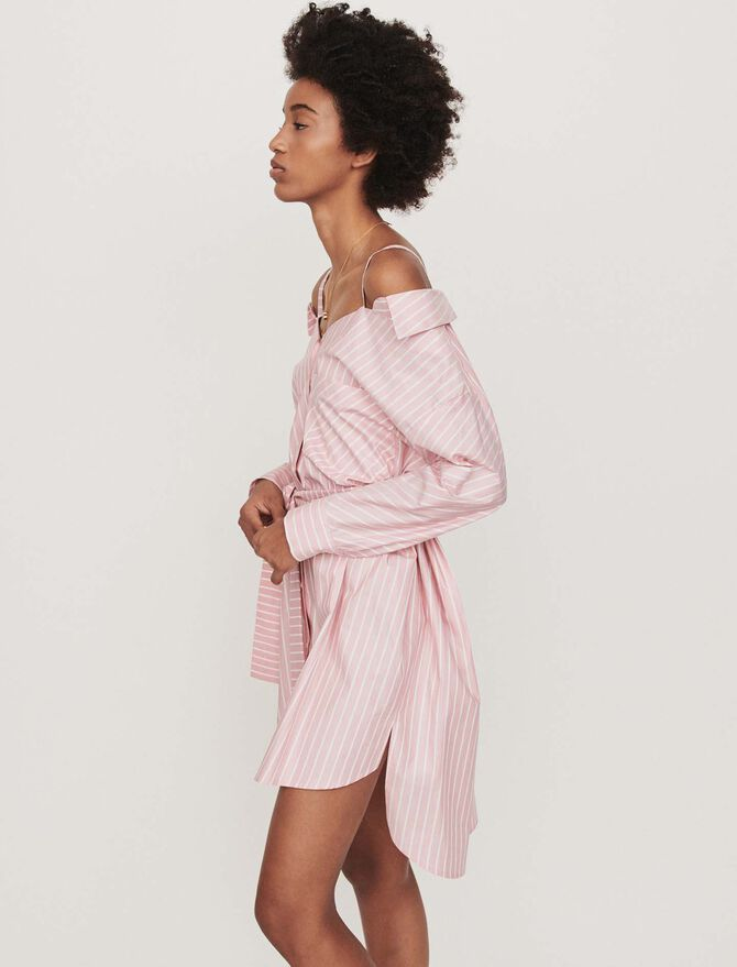 Oversized striped shirt dress - See all - MAJE
