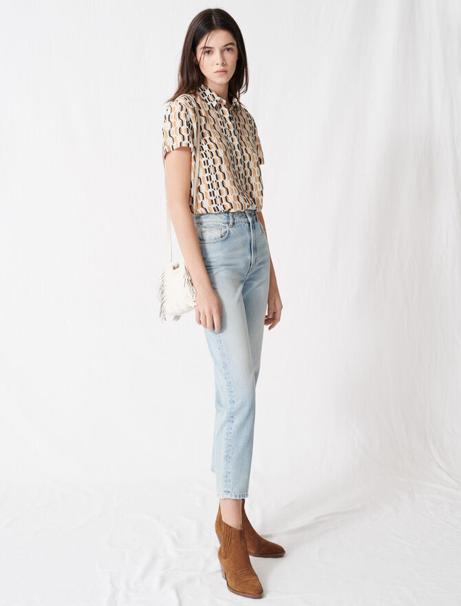 Mum-style high-waisted jeans - All the collection - MAJE