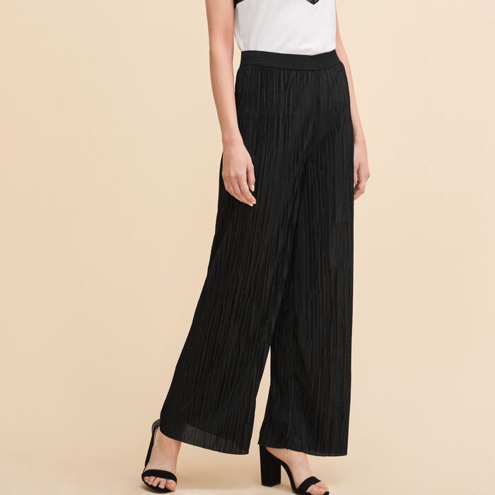 Reversible pleated trousers -  - MAJE