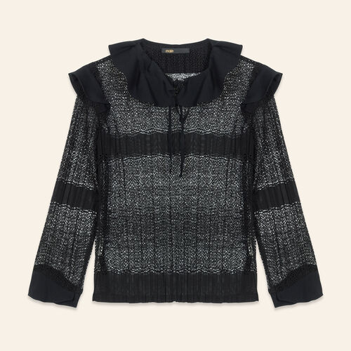 Openwork knit top - Tops - MAJE