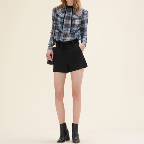 Floaty checked blouse : Discount color PRINTED
