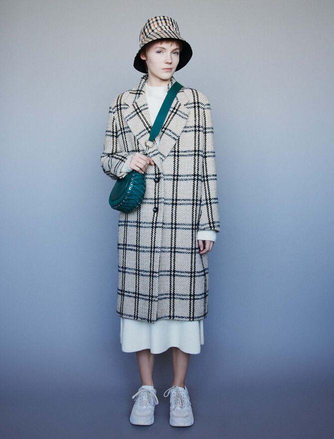 Long plaid coat -  - MAJE