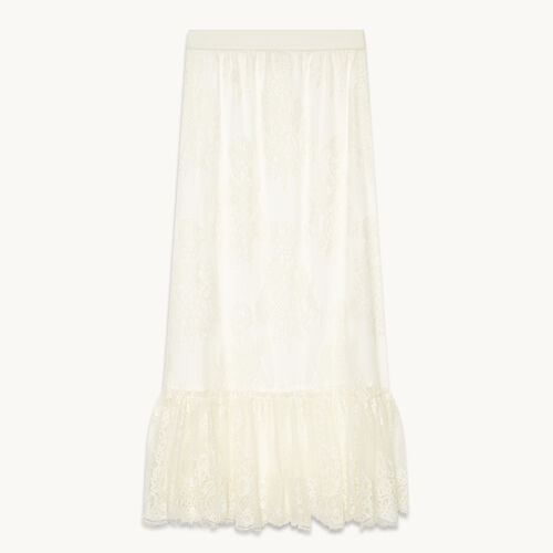 Long lace skirt - null - MAJE