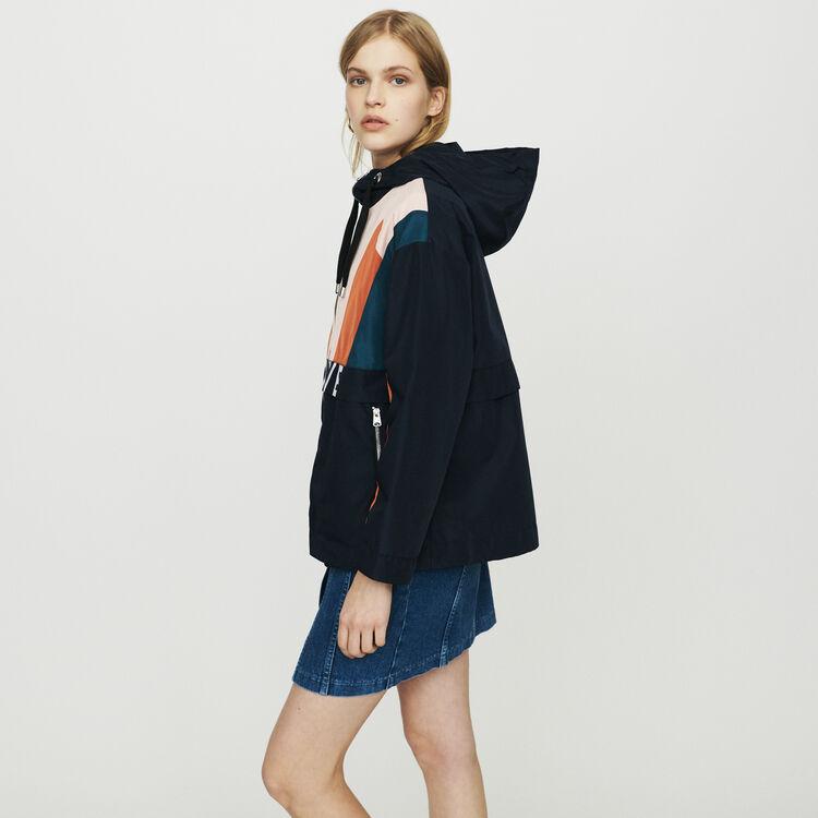Multicolored windproof jacket : Coats & Jackets color Navy