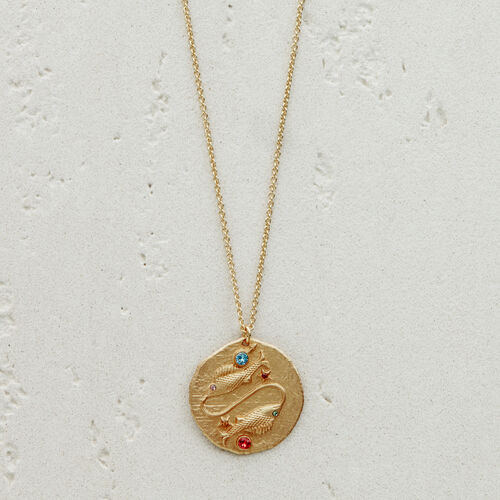 Pisces zodiac sign necklace : Jewelry color GOLD